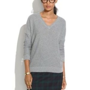 Madewell Grey V Sweater